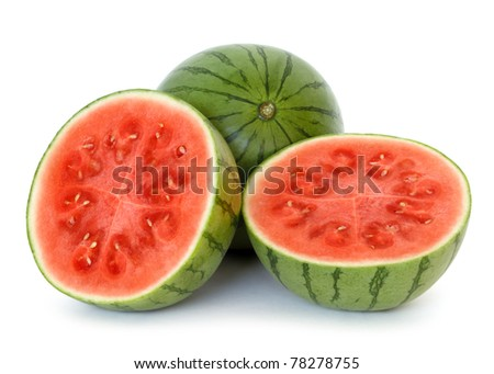 watermelon over white background - stock photo