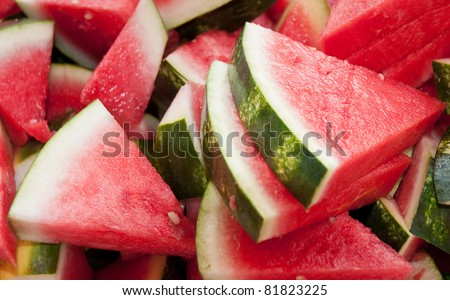 Watermelon Slices  - glistening in the sunlight