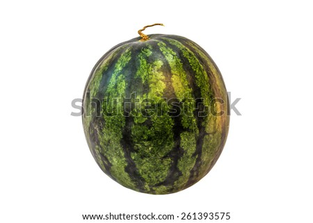 watermelon with clipping path over white background