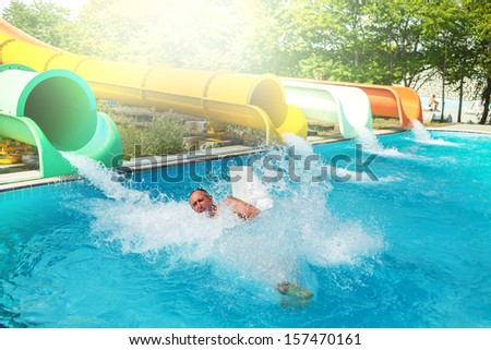 Waterpark stock photo