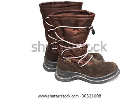 Waterproof girl boots - stock photo