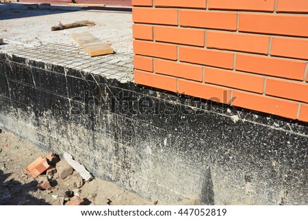 Waterproofing stock photos royalty free images vectors for Basement construction methods