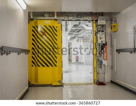 Watertight doors on a ship & Watertight Doors On Ship Stock Photo 365860727 - Shutterstock