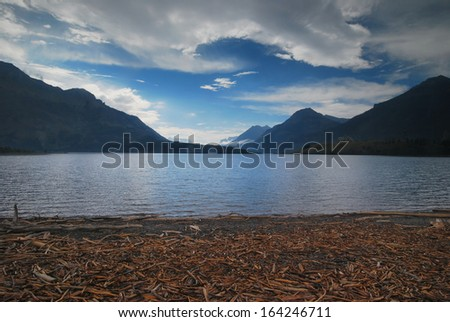 Waterton National Park in Canada - stock photo