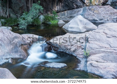 Waterview Creek, Jourama Falls, Paluma Range National Park, Queensland, Australia - stock photo