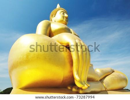 watmuang  angthong In Thailand - stock photo