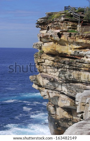 Watson's Bay Cliff in Sydney - stock photo