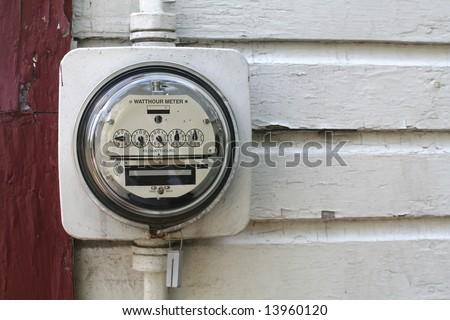 Watthour Meter - stock photo