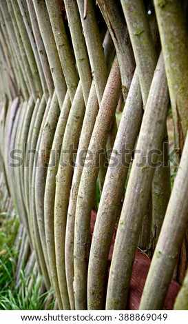 Wattle Fence - stock photo