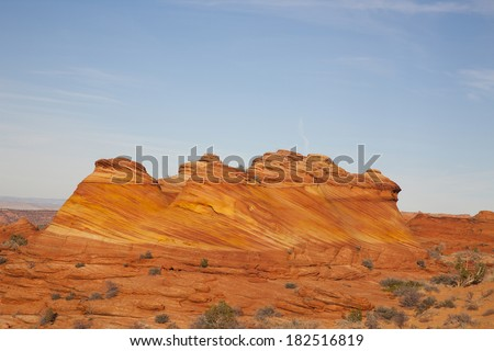 Wave area, Coyote Buttes North - stock photo