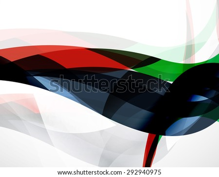 Wave background, geometric color composition. Abstract background with copyspace.  illustration - stock photo