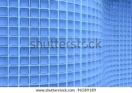 Wave Cube background in blue tone