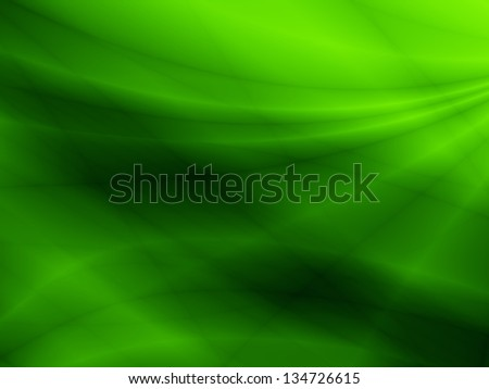Wave green abstract wallpaper design - stock photo