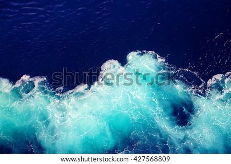 wave ocean water background. - stock photo