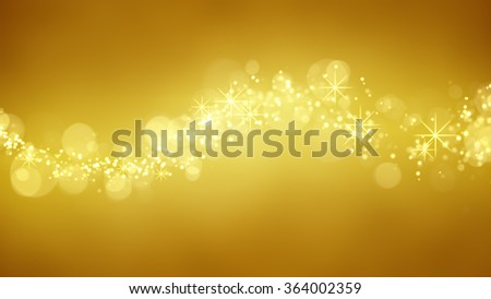 wave of gold glitter particles. computer generated abstract background