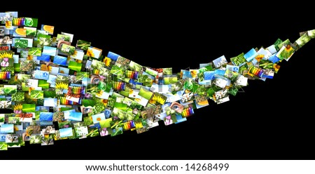 Wave of photos - stock photo