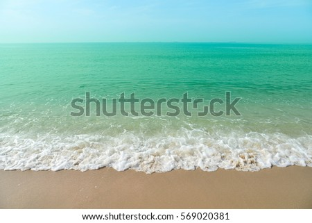 wave of the sea on sandy beach