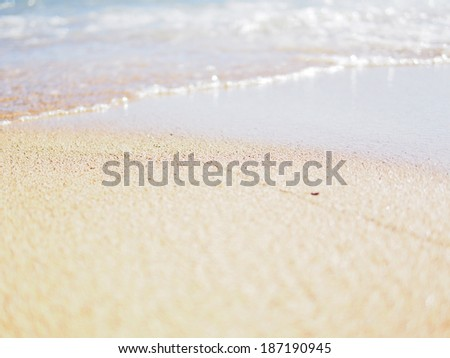 Wave of Waikiki Beach - stock photo