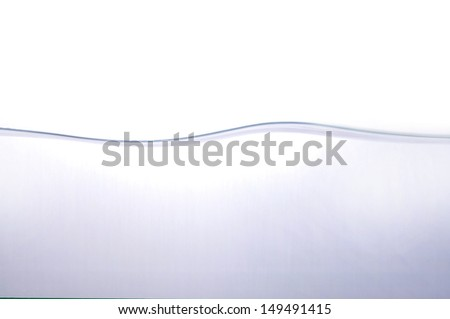 wave of Water on white background