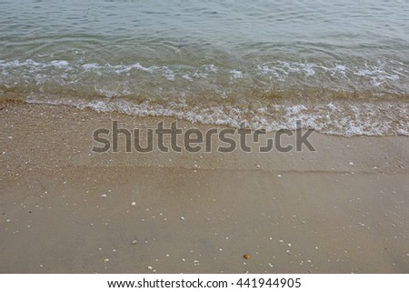 Wave on the beach.,select focus with shallow depth of field:ideal use for background.