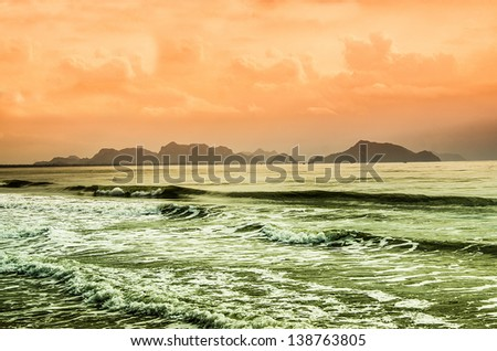 Wave on the sea - stock photo