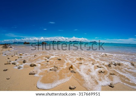 Wave on the shore - stock photo