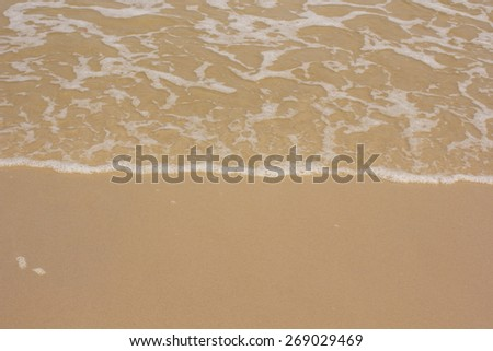 wave sea  beach on top view - stock photo