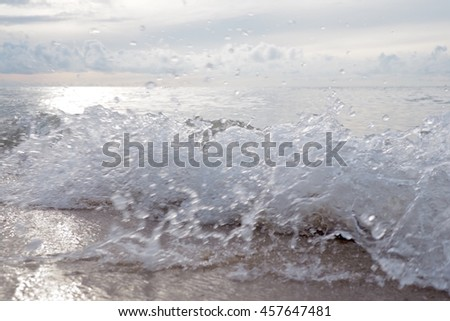 Wave sea on the beach