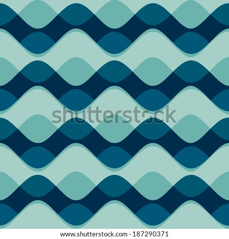 wave seamless pattern (raster version) - stock photo