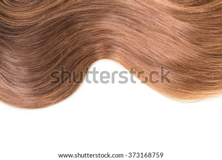 Wave shiny groomed hair isolated on white background