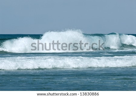 wave started - stock photo