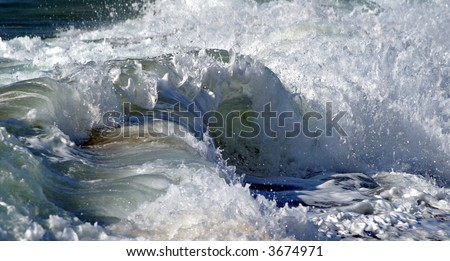 Wave turmoil - stock photo