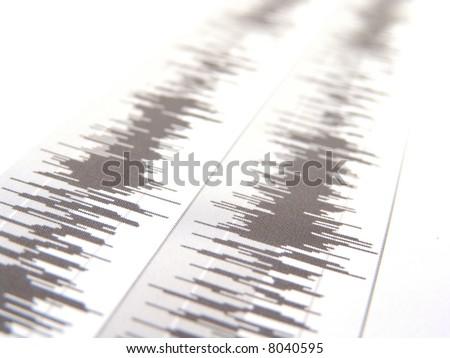 waveform - stock photo