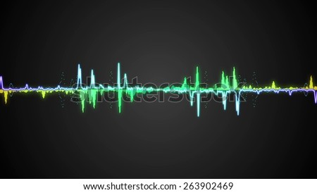 Waveform background. For club, radio, party, concerts or the audio technology - stock photo