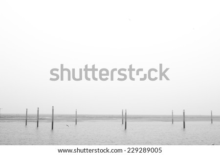 waveless sea - stock photo