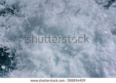 waves and bubbles - stock photo