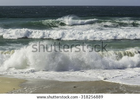 Waves and sea surf