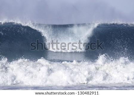 waves at bondi beach - stock photo