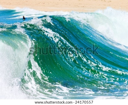 Waves at surfers point  in western Australia - stock photo