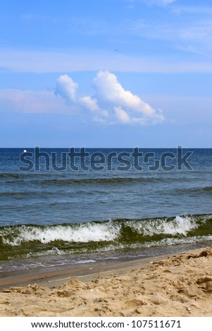waves at the Baltic Sea