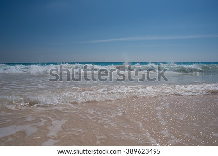Waves at the beach
