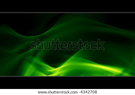 Waves - 3d abstract green background texture - stock photo