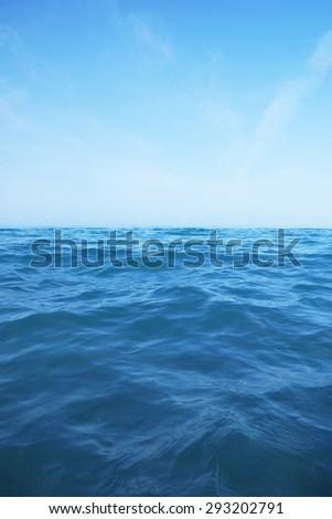 Waves in an open ocean - stock photo