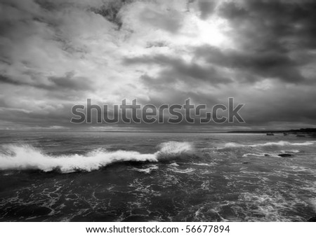 Waves in Rough Seas - stock photo