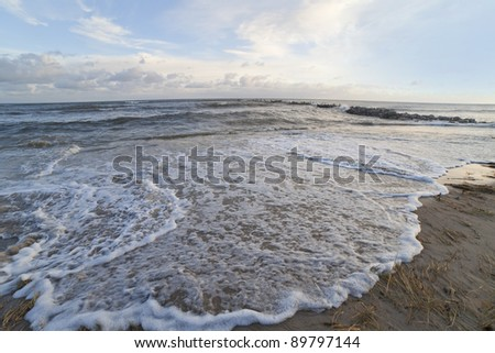 Waves in sea. - stock photo