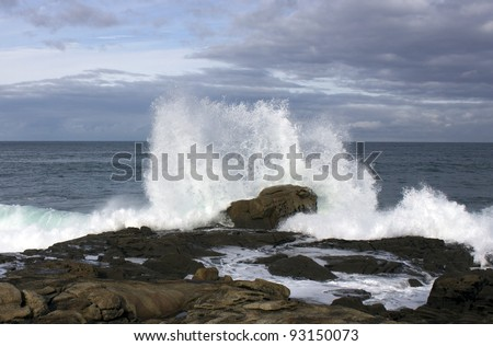 Waves in the Atlantic Ocean on a stormy day