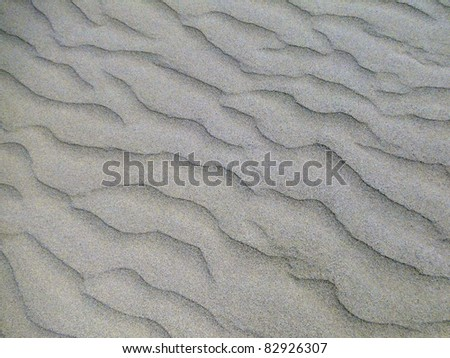 Waves in the Sand - stock photo