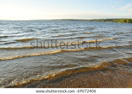 waves in water - stock photo