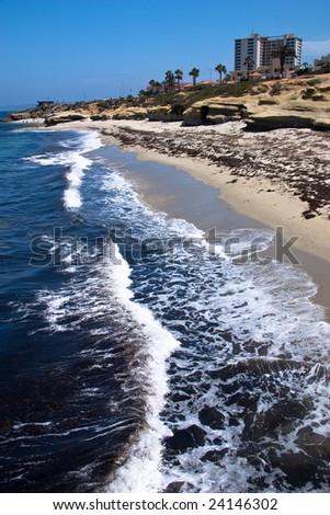 Waves of La Jolla, California - stock photo