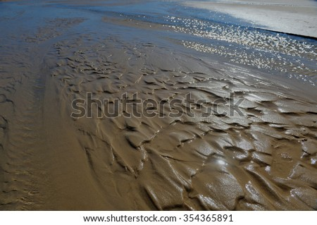 Waves of sand on Bazaruto Island, Mozambique. - stock photo